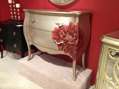 Silver finish and hand painted detail on bombay chest. #hpmkt via @Jason Stocks-Young Stocks-Young Stocks-Young Stocks-Young BALL interiors