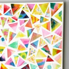 Diy Easy Triangle Wall art - Tutorial