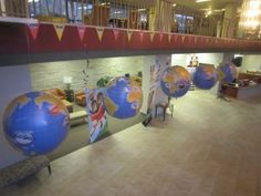 Great idea for decorating for Amazing Wonders Aviation!