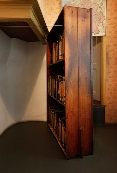 think about ways to use moveable bookcases as walls