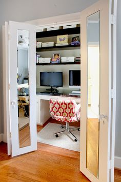 Hidden Home Office Designs...check them out.