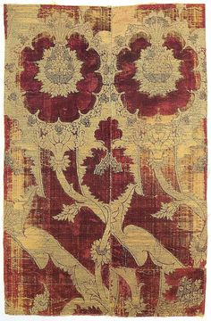 Silk velvet.  Italy, third quarter 15th century.  Acquired from Mrs Loewi-Roberston, Los Angeles.