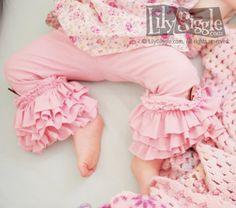 "PDF ""Rings-of-Ruffles"" PANTS now in 2 lengths Sewing E-Pattern and Detailed Tutorial...sizes 6months-6 years"