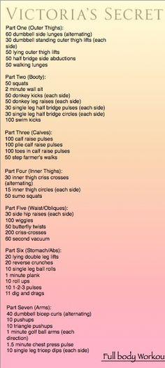 Victoria Secret Workouts