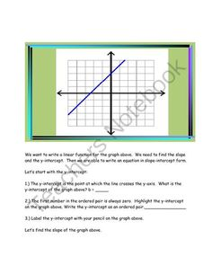LaTasha and Rate of Change from Algebra for Everybody on TeachersNotebook.com -  (10 pages)  - Using a problem situation and a graph to identify and write a linear equation
