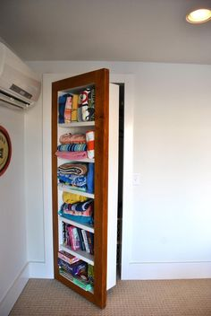 Use for a hidden closet?  Marnie Homes