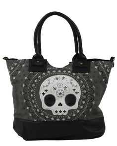 White Lace Skull Tote Bag Want!!!!