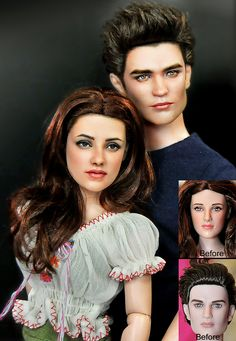 Doll Repaint Bella and Edward by *noeling on deviantART