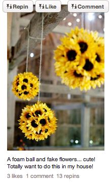 #DIY  #Creative   #Crafts  Ball of fake flowers....fantastic!