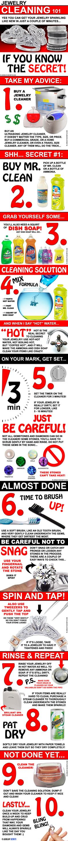 ► ► Jewelry Cleaning Secrets 101!