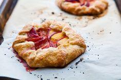 Peach crostatas: a delicious little treat.