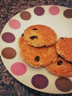 Biscoito Integral de Aveia, Coco e Uva-Passa | Receita
