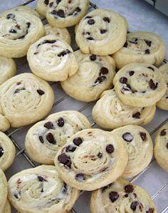 Chocolate Chip Cream Cheese Cookies.