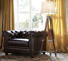 not bad floor lamps, chair, surveyor floor, living rooms, floors, potteri barn, the office, barns, pottery barn