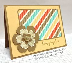 Delightful Dozen, Stampin' Up!, Brian King,FMS125  So bright and fun!