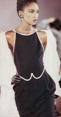 KATOUCHA NIANE, Geoffrey Beene Show, 1988 S/S.