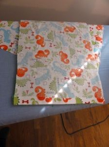 Homemade burp cloths. This is a step-by-step on how to make a homemade burp cloth for a friend or family members soon-to-be little one. Great for a baby shower!
