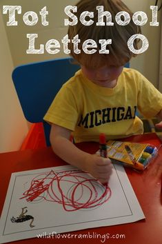 Tot School Printables Letter O is for Ostrich from Wildflower Ramblings #totschool