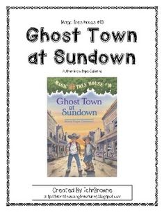 Yee Haw, Jack and Annie go on another adventure and this time it is to the Wild West. Here is a ready -to-go, complete set of chapter questions for Ghost Town at Sundown, Magic Tree House Book #10 by Mary Pope Osborne. An answer key is included! Great for whole class novel study or smaller guided reading groups. $