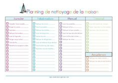Organisation maison on pinterest souvenirs chore charts and belle - Organisation de la maison ...