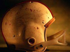 Scruffed helmet.