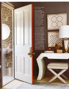 Martha Stewart - door edge paint