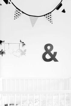 black & white nursery