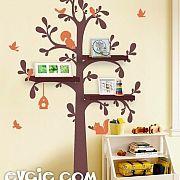 Shelving Tree Wall Decal – Nursery Wall Stickers