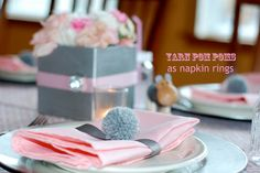 Pink and grey baby shower!!