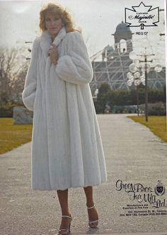 white mink fur coat