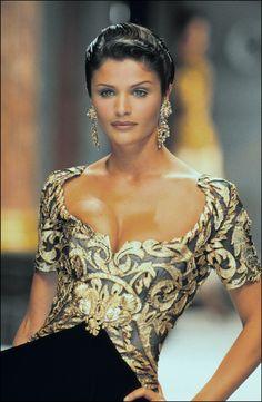 Helena Christensen, Christian Dior Haute Couture