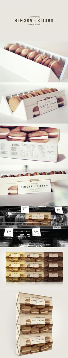 Ginger Kisses Packaging Re-design by Veronica Cordero. Well almost PD