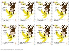 Chit Chat and Small Talk: Monkey Business: A Carryover Activity for /sh/