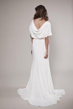 Vintage Inspired Wedding Dress: Audrey Blouse and Descending Silk Skirt. $2,000.00 USD, via Etsy.