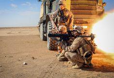 Roar of the Rocket — Marines conduct a rocket range in Afghanistan Jan. 31, 2014. (U.S. Marine Corps photo by Sgt. Eric S. Wilterdink/Released)