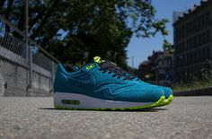 AM1 Current 1 Nike Air Max 1 FB Current Blue Leopard