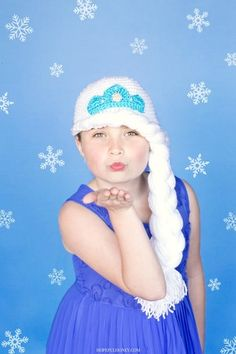 Elsa's Favorite Crochet Hat - Channel your inner princess with this Frozen-inspired crochet hat pattern. Elsa's Favorite Crochet Hat will definitely become your daughter's (or niece, grand-daughter, etc.) favorite hat,
