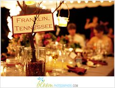 Table centerpieces for fall wedding