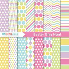 Digital Paper - Easter Egg Hunt - Instant Download on Etsy, $3.00