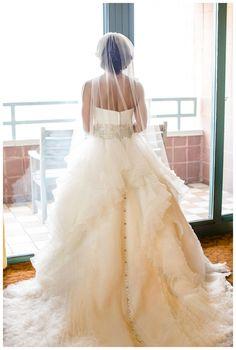 Justin Alexander dress, fall wedding
