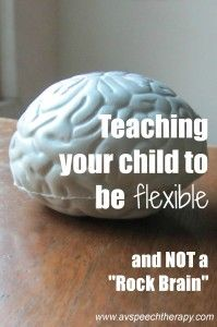 Teaching flexibility to kids with autism. Repinned by SOS Inc. Resources pinterest.com/sostherapy/.