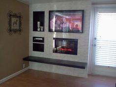 A custom installation of a #Dimplex BF9000 Built-In Electric #Fireplace