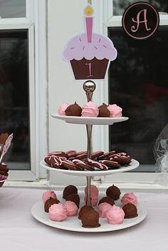 birthday parti, cupcak birthday, cupcake party, printabl cupcak, cupcak tier, cupcak parti, parti idea, larg cupcak