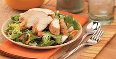 Per serving, the tangy chicken salad has 366 calories, 8 grams of fat, 4 grams of saturated fat, 41 grams of protein, 30 grams of carbohydrates, 5 grams of fiber and 483 milligrams of sodium.