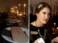 murder mystery halloween birthday dinner black gold white