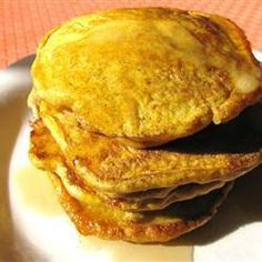 "Paleo Pancakes | ""These pumpkin pancakes are paleo-friendly and seasoned with cloves, ginger, and cinnamon."""