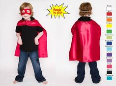 Superhero Capes-Plain Jane, no extras, $6.50 per or $6 if you buy more than 20.