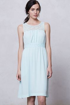 Lace-Yoke Dress #anthropologie