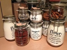 Custom Kitchen Canister Labels set of 6 by KasssKreations on Etsy, $24.99