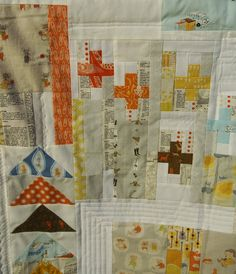 Summer Heather Ross Improv Quilt by Fabric Mutt